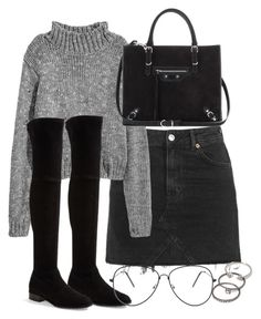 """Untitled #2654"" by theeuropeancloset ❤ liked on Polyvore featuring Topshop, Stuart Weitzman, Balenciaga and Forever 21"