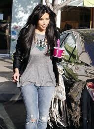 Kim Kardashian at Menchie's