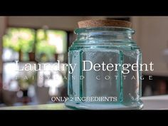 2 Ingredient Laundry Detergent - Zero Waste - Natural - Economical
