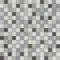 Tile Gl Mosaic 19x19mm Sheet Black 06s 03 Bunnings Warehouse