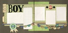 scrapbook layout sketches 12 x 12 2 page | Premade Scrapbook Page 12 x 12…