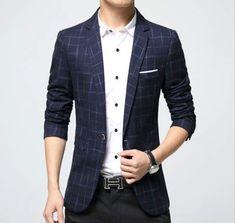 2017 new winter men's casual suits Elegant plaid blazer for man High Quality men slim fit suit jackets Big Size brand suit Mens Casual Suits, Casual Blazer, Plaid Blazer, Mens Suits, Blazer Jacket, Men Blazer, Blazer Dress, Cotton Blazer, Cotton Suit