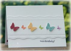 Rainbow Butterflies _pb by peanutbee - Cards and Paper Crafts at Splitcoaststampers