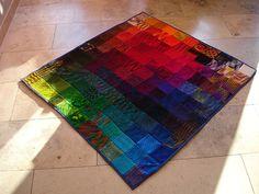 Koc, dywanik, a może narzuta? Śliczny dobór barw. Może zrobię podobny.
