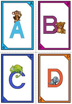 Lehrerblog, Lehrer Blog krabbelwiese: Tier ABC, Alphabet, Tiere, Legekarten, Karten, Bildkarten, Deutsch, Klasse 1, Vorschule, Buchstaben und dazugehörige Bilder, Reihenfolge