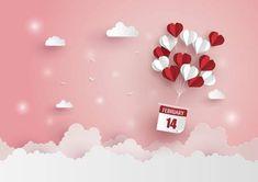 Hot air balloon in a heart shape.