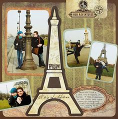 New Adventures Reminisce Travel Scrapbook Layout Project Idea