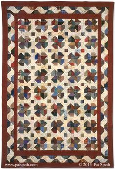 woodland clover with copyright by Pat Speth (Nickel Quilts)