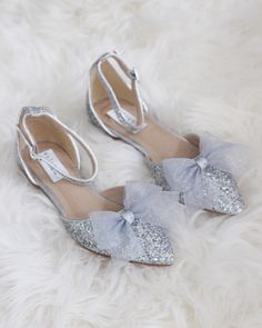 fd113bea95ee Women Wedding Shoes Bridesmaid Shoes SILVER ROCK Glitter Glitter Cardstock