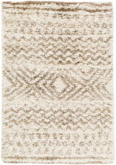 Surya Rhapsody RHA1035 Neutral/Brown Shag Area Rug