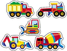 200 Construction Vehicles Reward Stickers - Diggers, Lorries, Cement Mixers £3.49