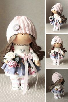 Winter Doll Christmas Doll Handmade Doll Gray Soft Doll Art Rag Doll Fabric Doll Nursery Doll Cloth Doll Toy Poupée Textile Doll by Tanya A __________________________________________________________________________________________  Hello, dear visitors!  This is handmade soft toy created by Master Tanya A. (Bor, Russia). All dolls on the photo are mady by artist Tanya A. You can find them in our shop searching by artist name. Here are all dolls of artist Tanya A: https://www.etsy.co...