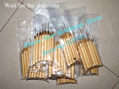 12pcs/Lot ,Wooden Handle Pulling Hook Needle Hair Extensions,Hair Extension Tools