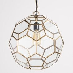 Faceted Glass Paxton Pendant $149.99 | Mud Room Hallway option