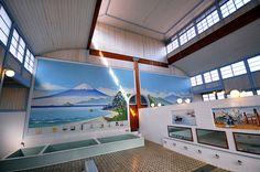 江戸東京たてもの園の銭湯 Bathhouse in Edo-Tokyo Architectural Museum, Tokyo, Japan