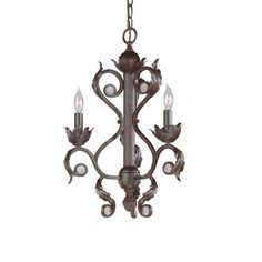 Crystorama Winslow Collection 3-light Dark Rust Mini Chandelier