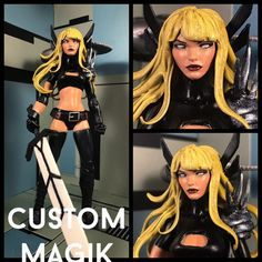 This is a custom of x-men's Magik. She is fully posable and goes great with the rest of the marvel legends line. Sword included. Payment must be made within 3 days of the auctions end unless agreed upon before bidding. Ships in the USA only.   eBay!