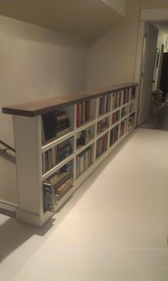 bookcase as a banister - Google Search