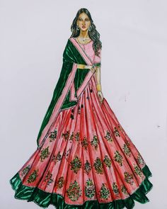 Fashion Design Drawing Let your attire speak for your tradition! Dress Design Sketches, Fashion Design Sketchbook, Fashion Design Drawings, Fashion Sketches, Dress Designs, Fashion Drawing Dresses, Fashion Illustration Dresses, Dress Illustration, Fashion Dresses