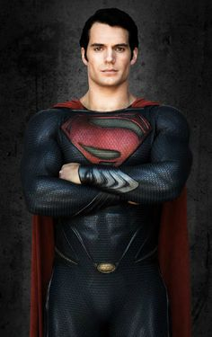 Henry Cavill  Now that's how you fill out a superhero costume!