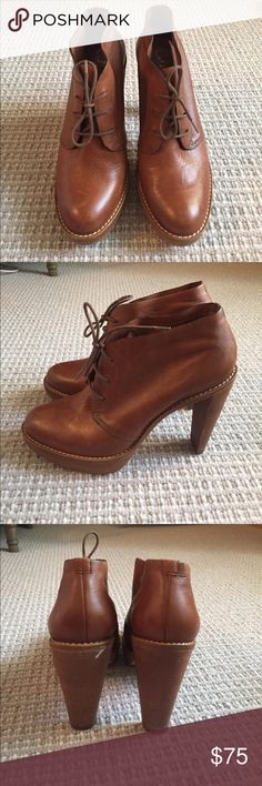 Cole Haan lace up booties Brown leather Cole Haan lace up booties with Nike technology bottoms Cole Haan Shoes Ankle Boots & Booties