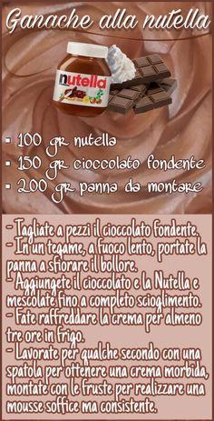 Nutella Recipes, Cookie Recipes, Dessert Recipes, Desserts, Nutella Ganache, Nutella Cake, Creme Dessert, Biscuit Cake, Italian Cookies