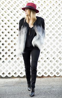 ombre faux fur