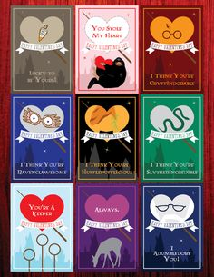 Free Printable Harry Potter Valentines In Two Sizes And A Tutorial