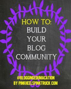 Blogging Edumacation: Building Community via pinkheelspinktruck.com #bloggingedumacation