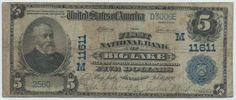 Big Lake, MN - Ch. 11611 - $5 1902 Blue Seal The only time a note from Big Lake was offered for sale it sold for $7,500. That note was a grade nicer, but it also sold in 2010 near the bottom of the market. Today there are far more players for good Minnesota national banknotes and I would wager that the next chance to obtain one of these won't be for many years to come. The discovery of this example brings the total tally for this one bank town to three notes.