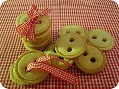 Biscoitinhos em forma de botões