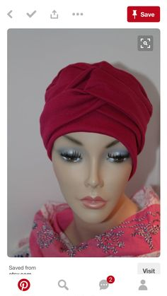 0d9cd7eb4ea Red Sangria, Scarves For Cancer Patients, Velvet Hat, Millinery Hats, Hijab  Caps