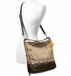 COACH Park Signature Hobo Handbag F23279. Starting at $1 on Tophatter.com! Hobo Handbags, Bucket Bag, Monogram, Michael Kors, Shoulder Bag, Park, Pattern, Ebay, Shoulder Bags