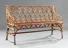 I just discovered this American Cast Iron Gothic Pattern Garden Bench on LiveAuctioneers and wanted to share it with you: www.liveauctioneers.com/item/46333843
