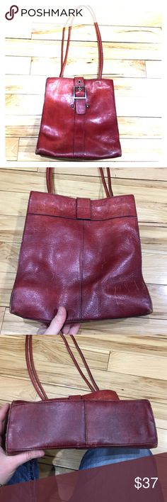 Wilsons leather rust color leather vintage purse Wilsons leather rust color leather purse with magnetic closure very cute can go great with a lot of outfits has some scratches as seen in the picture just needs a good conditioning non-smoking home fast to livery at an excellent price get it today Wilsons Leather Bags Shoulder Bags