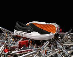 Vans X Independent Slip-On Pro 🔥🔥🔥 Další kousky najdeš na našem shopu Sedlčany a také on-line na 👉www.popname.cz Puma Platform, Platform Sneakers, Coolest Shoes Ever, Nike Sb, Vans Sneakers, Skateboarding, Kicks, Slip On, Adidas