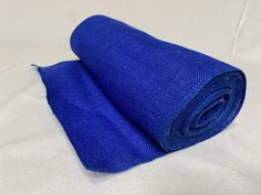 """14"""" Royal Blue Burlap 10 Yard Roll Sewn Edges - Made In USA Burlap Ribbon, Royal Blue, Yard, Usa, Sewing, Patio, Dressmaking, Couture, Stitching"""