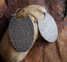 Sterling Silver Hoop Earrings Oval Sterling Hoops by LisaFlanders