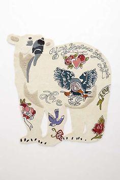 Anthropologie - Tufted Tattoo Bear Rug