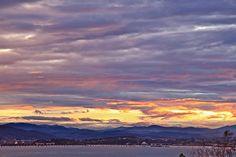 El cielo en la bahia de Santander