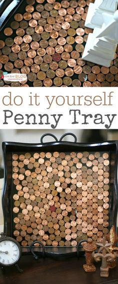 DIY Penny Tray | TodaysCreativeBlog.net