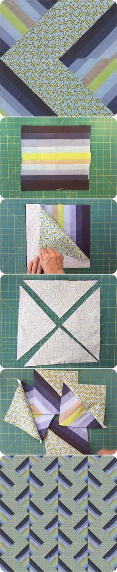 Half and Half Square Triangle quilt block tutorial