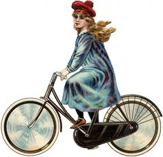 Antique Bicycle Girl Image July 30, 2013 by Karen Watson 5 Comments