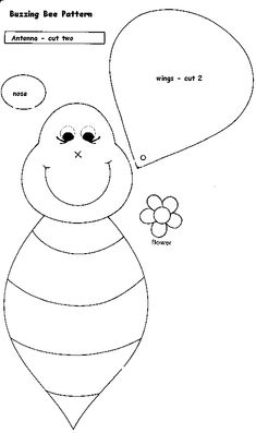 Beehive pattern. Use the printable pattern for crafts