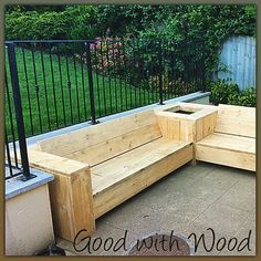Corner sofa Outdoor furniture Reclaimed by GoodWithWoodbyDesign