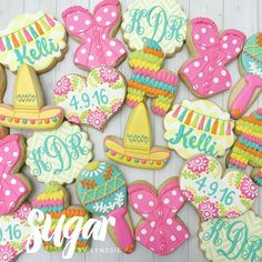 Cookies for a fiesta themed lingerie shower!  #customcookies #decoratedcookies #dfw #dallas #fortworth