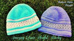 Amazing Grace Blissful Slouchy Hats - Free Pattern Crochet Adult Hat, Crochet Beanie Pattern, Crochet Cap, Crochet Gifts, Crochet Scarves, Crochet Clothes, Free Crochet, Crochet Coaster, Crochet Designs