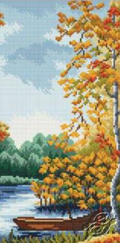 Autumn Pier - Cross Stitch Kits by RTO - M337