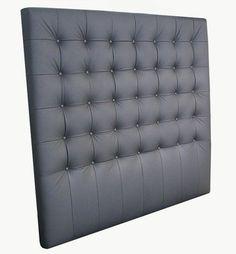 sänggavel svart skinn