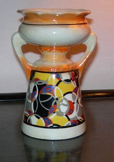 Mid-Century Czech Art Pottery Vase  #Czechoslavakian